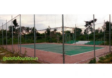 Photos of Basketball and Tennis courts in Ikire campus surface online