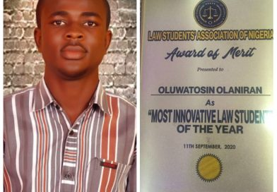 UNIOSUN student bags Innovative Law Student of the Year Award